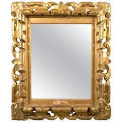 Carved Framed Mirror, circa 1700s