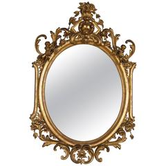 Late 19th Century Gilded Mirror
