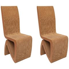 Pair of Frank Gehry Cardboard Chairs, USA, 1970s