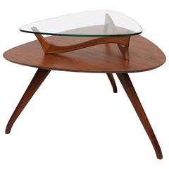 Vladimir Kagan Style Side Table, 1960s, USA