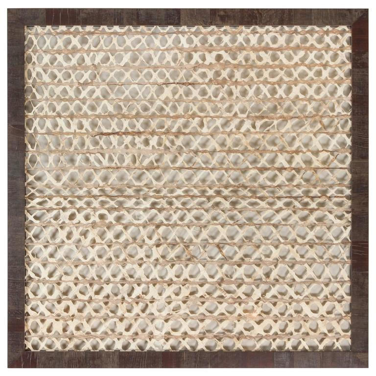 Framed Mexican Amate Bark Paper For Sale