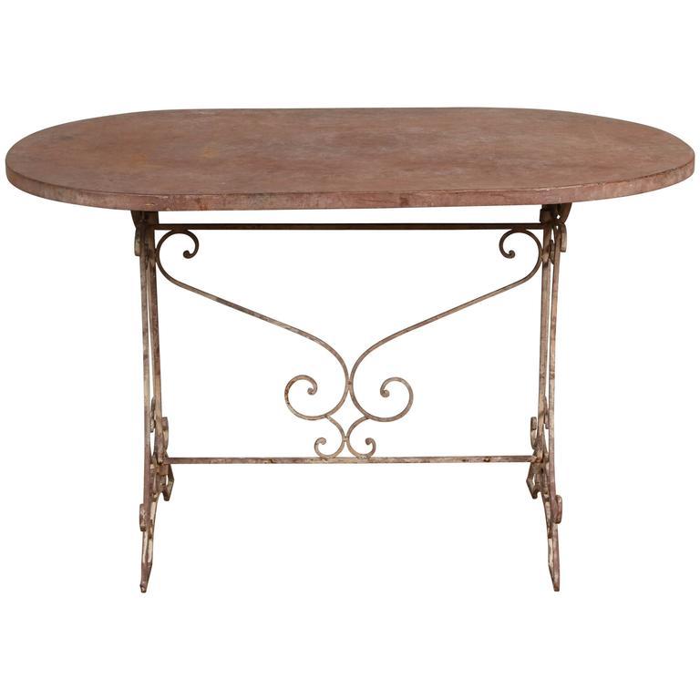 vintage french metal folding table for sale at 1stdibs. Black Bedroom Furniture Sets. Home Design Ideas