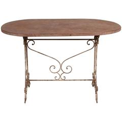 Vintage French Metal Folding Table