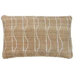 Indian Handwoven Pillow in Ivory and Oatmeal