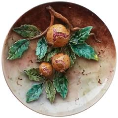 19th Century Pomegranate Wall Platter Fives Lille