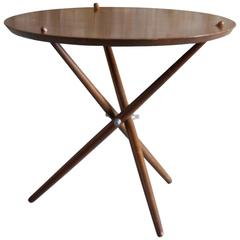 1948 Hans Bellman Swiss Modernist Tripod Table for Wohnbedarf Imported by Knoll