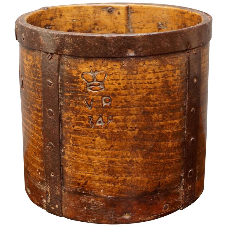 19th Century Half Grain Measure Oak Storage Container Victorian, circa 1840 1