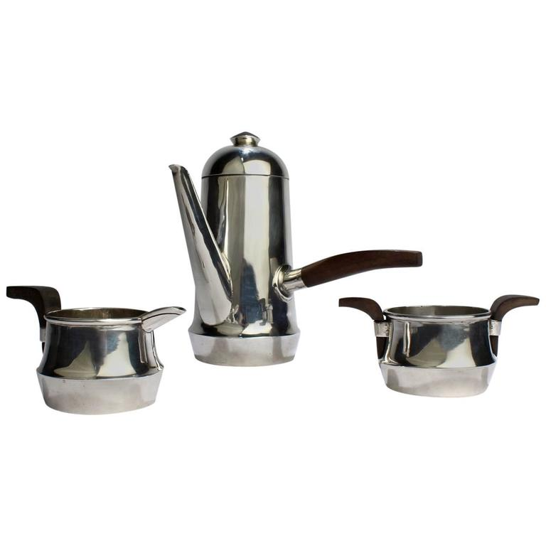 Vintage Hand-Wrought William Spratling Sterling Silver Espresso Coffee Demi Set