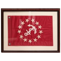 Framed Vice Commodore Flag