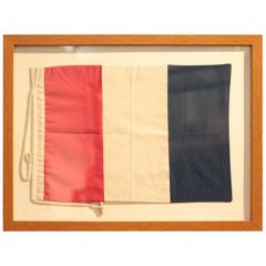 Shadowbox Frame of French Flag