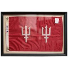 Framed Flag of Two Tridents