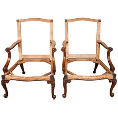 Exceptionally Fine Pair of George III Mahogany Gainsborough Chairs