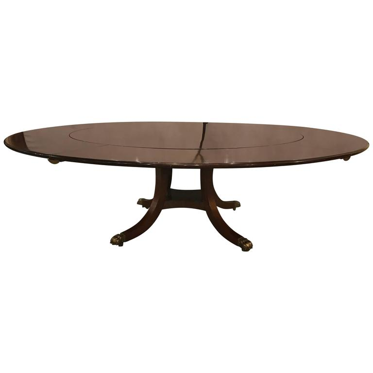 Monumental Circular Dining Room Table By William Tillman 1