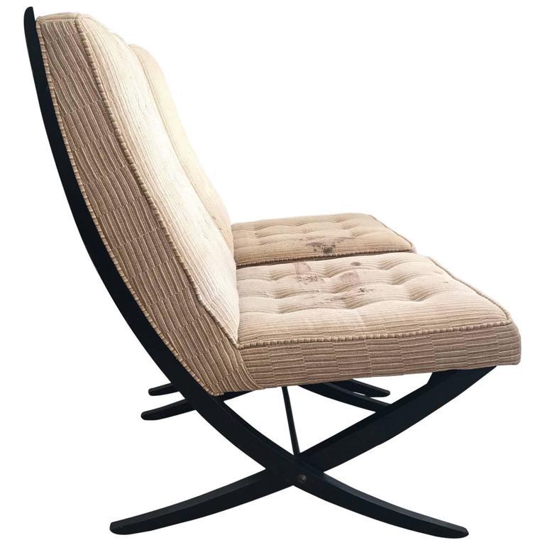 Pair of Elegant Scissor Chairs For Sale