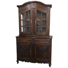 19th Century French Regence Bookcase, Vitrine