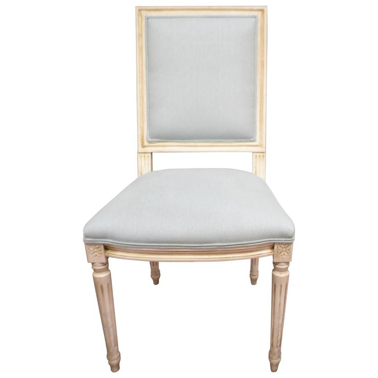 Louis XVI Style Square Back Dining Chair for Custom Order
