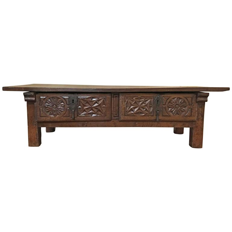 Antique Spanish Coffee Table Circa 1780 For Sale At 1stdibs
