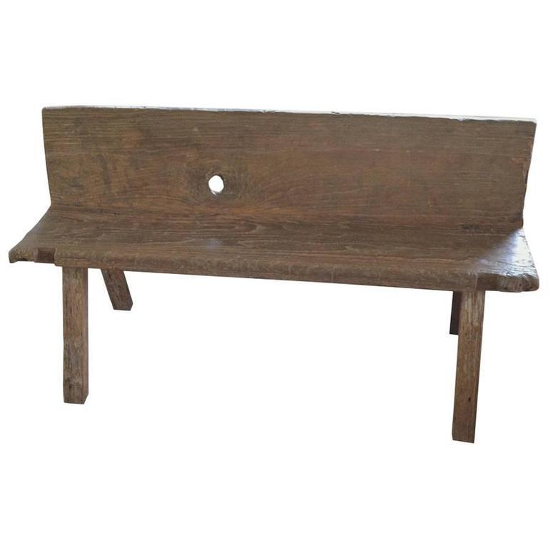 Andrianna Shamaris Wabi-Sabi Teak Wood Bench