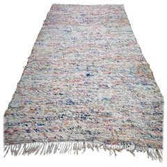 Extremely Rare Rag Rug Formerly Owned by the British Actress Jean Simmons