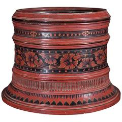 1880s Round Two Layer Betel Nut Container Tray