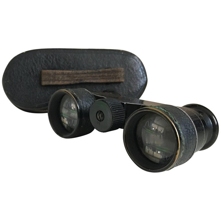 Binoculars Opera Glasses with Leather Case