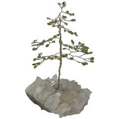 1960s Crystal and Quartz Tree Sculpture