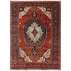 Antique Sarouk Farahan Persian Rug. Size: 9 ft 2 in x 12 ft 2 in