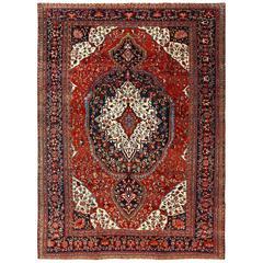 Antique Sarouk Farahan Persian Rug