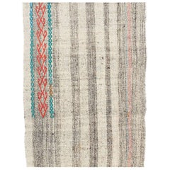 2.5 x 15 Ft (Adjustable) Banded Vintage Kilim Runner