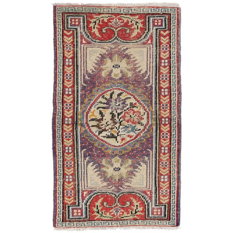 Antique Tibetan Rug: Vintage Tibetan Rug Or Doormat For Sale At 1stdibs