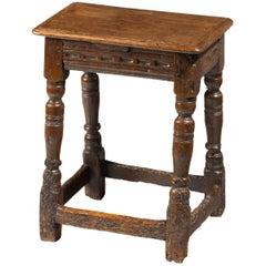 Late 17th Century Oak Joint Stool