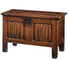 Late 17th Century Oak Kist of Small Proportions
