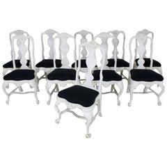 Set of Ten Similar 18th Century West Swedish Rococo Chairs