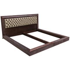 James Mont, Grey Cerused Fumed Oak King Size Bed, USA