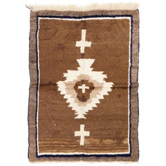 "One of a Kind Vintage ""Tulu"" Rug with a Tribal Design"