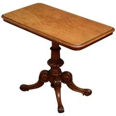 Stylish Victorian Pollard Oak Side Table