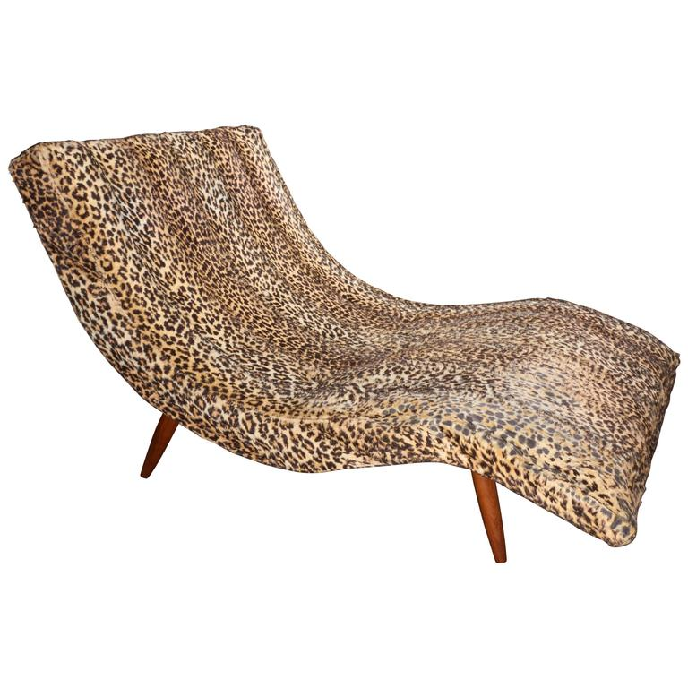 Mid century s curve lounge chair chaise in the style of adrian pearsall for sale at 1stdibs - Mid century chaise lounge chair ...