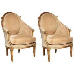 Pair of Italian Louis XVI Bergeres