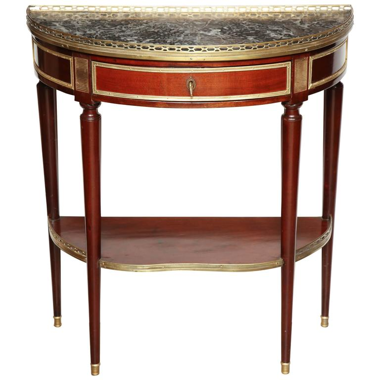 french demilune console table at 1stdibs. Black Bedroom Furniture Sets. Home Design Ideas