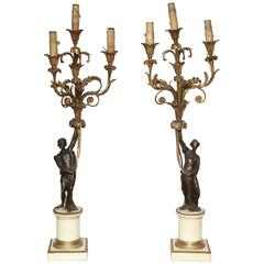 Pair of French, Louis XVI Candelabra