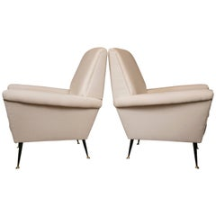 Large Pair of Vintage Italian Armchairs