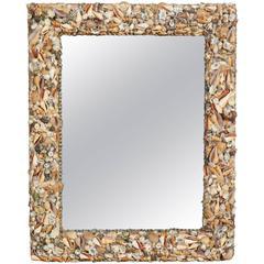 A Modern Shell Encrusted Mirror