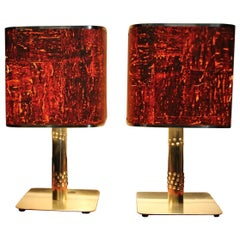 1970s Brass Lamps