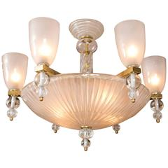 Murano Six-Light Chandelier