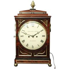 English Georgian Mahogany Bracket Clock by Thwaites and Reed