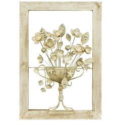 Fine Decorative Three-Dimensional Flowering Urn Panel