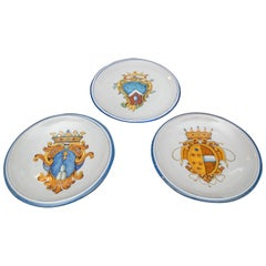 Set of Three Late 19th Century Italian Majolica Plates