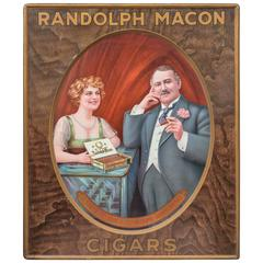Tin Advertising Sign, Macon Cigars