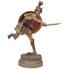 Vienna Bronze Figure of a Roman Warrior by Franz Bergmann