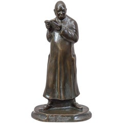 German Bronze Figure of Emil Jannings, Hollywood and Movie Interest